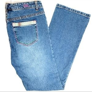 Lilly Vintage High Waisted Embroidered Jeans   8